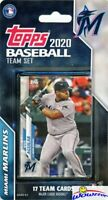 Miami Marlins 2020 Topps Limited Edition 17 Card Team set-Aguilar,Anderson,Lopez