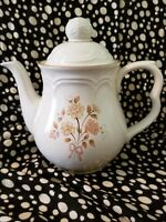 Vintage Cordella Collection Burnet Stoneware Coffee Pot Japan Brown Flowers