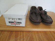 BNIB Women's Classic Bown Leather Rubber Sole Moccasins Loafer Shoes Size 10