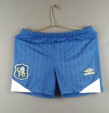 4.6/5 Chelsea vintage retro shorts Youth soccer football Umbro ig93