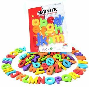 Kids Learning Magnetic Letters Alphabet & Numbers Educational Toy Fridge Magnets