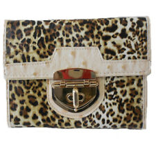 Leopard Print Long Purse Trimmed In Beige Special Offer