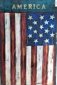 "America Standard House Flag by Toland #1118 24""x36"" Warren Kimble Artist"