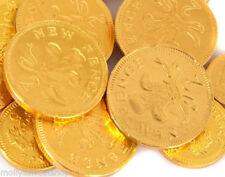 GRANDE ORO METALLIZZATO monete soldi al cioccolato 1kg (135 MONETE) PERFETTO PER FESTE BAGS