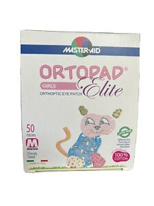 Ortopad Elite Eye Patch - 50 Stick On Patches (Latex Free) Size Medium 2-4yrs