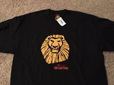 THE LION KING Walt Disney official Broadway shirt Adult XL Brand New NWT