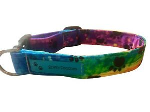 SPIFFY POOCHES Dog Cat Collar Rainbow Paws B.O.G.O @ 50% OFF C DESCRIPTION