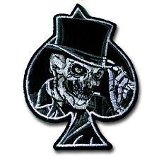 Ace Joker Skull Patch Iron on Biker Rock Badge Harley Tattoo Racing Sew Spade MC