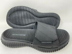 NEW! Skechers Men's Elite Flex Trevera Slip On Slide Sandals Blk #237070 140R tz
