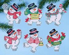 Cross Stitch Kit ~ Design Works 6 Think Snow Snowmen XMAS Ornaments PC #DW1686
