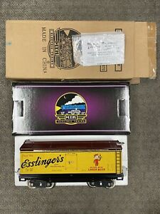 + MTH Standard Tinplate Esslinger's Lager Beer 200 Series Reefer Car 10-2187