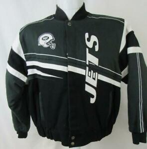 New York Jets Womens Size 2X-Large Embroidered Snap Front Twill Jacket AJET 212