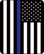 79x96 Queen Blue Stripe Flag Police Lives Matter Mink Blanket Super Plush Fleece
