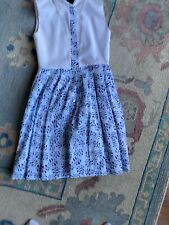 Oscar de la Renta Shirt Dress  Blue & White Size 12