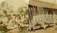 1858 two rare h/c albumen photographs of Radley and Eton rowing crews at Henley