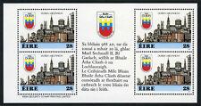 Ireland 708a, MNH. Dublin Millennium Booklet pane of 4 in Gaelic, 1988