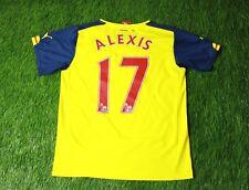 ARSENAL LONDON ALEXIS 2014-2015 FOOTBALL SHIRT JERSEY AWAY PUMA ORIGINAL YOUNG