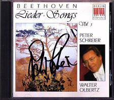Peter SCHREIER Signiert BEETHOVEN Scherzlieder Ernste Lieder CD Walter OLBERTZ