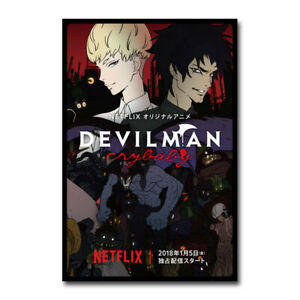Devilman Crybaby Poster Netflix Japanese Anime TV Show Poster Wall Art 24x36inch