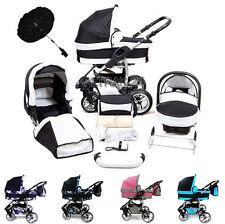 Kombi Kinderwagen 3in1 Buggy Sportwagen Pram Push Chair TWING Schwenkräder Baby
