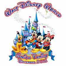 DISNEY Magic Magic Kingdom VACATION MINNIE MICKEY MOUSE T-SHIRT FAMILY add NAME