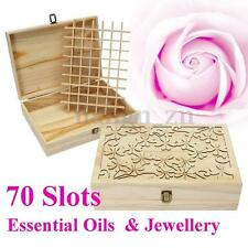 70 Slots Timber Essential Oils Box Storage Case Wooden Laser Cut Container