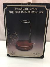 Price Products Musical Doll Stand With Wood Base And Metal Arm, Made In Taiwan