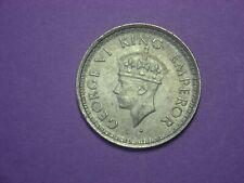 British India 1/4 Rupee 1945 / Silver /