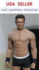PHICEN M33 1/6 Seamless Male Muscular Body w/ Chris Evan Captain America HEAD