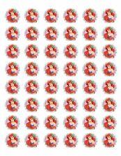 """48 ARIEL MERMAID ENVELOPE SEALS LABELS STICKERS 1.2"""" ROUND"""