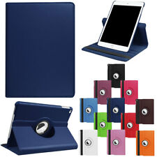 360 Rotating Swivel Leather Smart Case Cover For iPad 9.7 2017 5th Gen Dark Blue