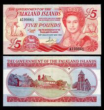 FALKLAND ISLANDS 5 POUNDS 1983 P 12 AU-UNC