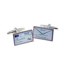 Personalised Air Mail Love Letter Design Cufflinks - X2BOCR190