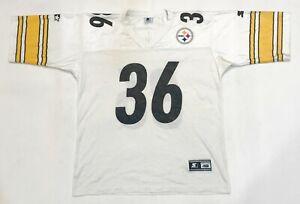 Vintage Starter NFL Pittsburgh Steelers BETTIS #36 Football Jersey 48 L Sz White