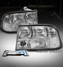 98-04 GMC SONOMA/98-01 JIMMY REPLACEMENT HEADLIGHTS LAMPS CHROME W/BLUE DRL LED