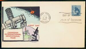 Mayfairstamps Canada FDC 1958 Geophysical Year Microscope First Day Cover wwi_89