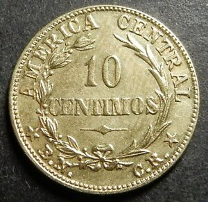 FREE Registered SHIPPING Costa Rica 10 centimos 1942 KM#180