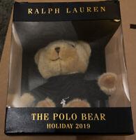 Ralph Lauren The Polo Bear Holiday 2019 Brand New Plush Stuffed Animal In Box