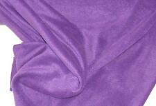 1 m Antipilling Fleece Fleecestoff uni Stoff Nähen dunkelviolett Meterware