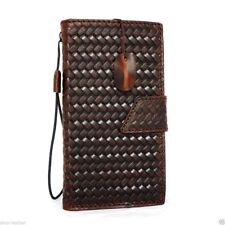 genuine real leather Case for apple iPhone 6 6s book wallet handmade cover id uk