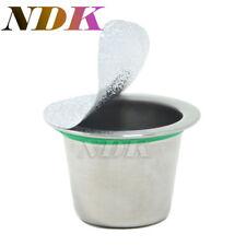 6 x Refillable Nespresso Café Capsule en Acier Inoxydable Réutilisable + 240 Couvercles
