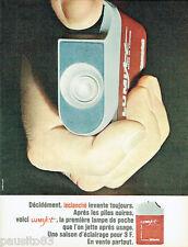 PUBLICITE ADVERTISING 115  1966  LUMIJET   lampe de poche Leclanché