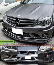 AK Style Carbon Fiber Front Lip Spoiler Mercedes Benz W204 C63 Sedan 08-11