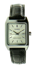 Casio Women's Analog Quartz Stainless Steel Black Leather Watch LTP-V007L-7E1