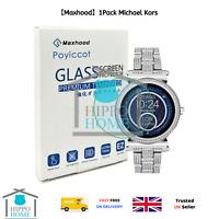 【Maxhood】1Pack Michael Kors Women's Smartwatch Sofie Tempered Glass Screen P