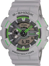 Casio G-Shock GA110TS-8A3 Men's Ana-Digi Green with Grey Resin Band Watch