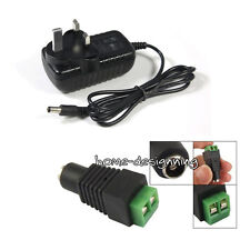12Volt 2 Amps Transformer Charger For 3528/5050 RGB LED Self-adhsive Strip Light