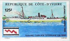IVORY COAST ELFENBEINKÜSTE 1986 912 U 782 Stamp Day Cable Ship Kabelschiff MNH
