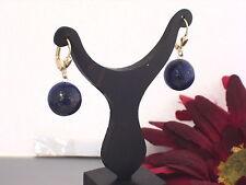 750 Gold Brisuren Ohrhänger Ohrring Lapiz Lapis Lazuli Damen gelbgold Edelstein