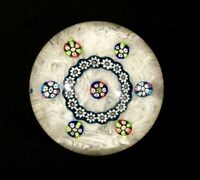 Beautiful Vintage Caithness Laticino Paperweight In Original Box